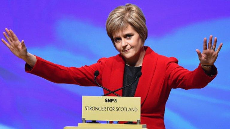 Никола Стърджън обяви, че може да призове депутатите от Шотландия да гласуват против евентуалния проект за узаконяване на Brexit