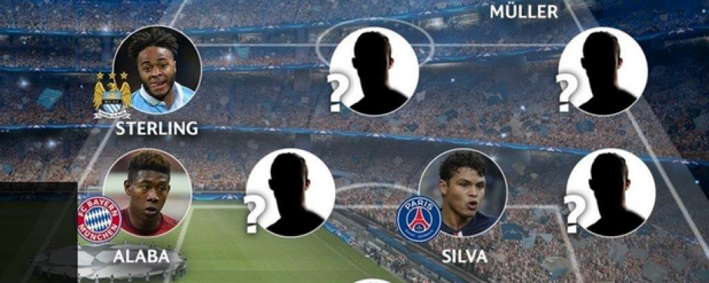 Идеалният отбор на груповата фаза в Шампионската лига, избран от УЕФА, е в схема 4-3-3