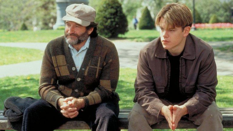 """""""Добрият Уил Хънтинг""""   Винаги, когато се спомене Мат Деймън, този филм е първото, за което се сещаме и има защо. """"Добрият Уил Хънтинг"""" прави Деймън и колегата му Бен Афлек наистина популярни с историята си за приятелството и връзката между минало и бъдеще.   Режисьор е Гюс Ван Сант, страхотната музика е дело на Дани Елфман, а поддържащата роля на Робин Уилямс му носи """"Оскар"""". Филмът се хареса еднакво на арт средите и на тези, които ежеседмично пълнят салоните на синеплекса."""