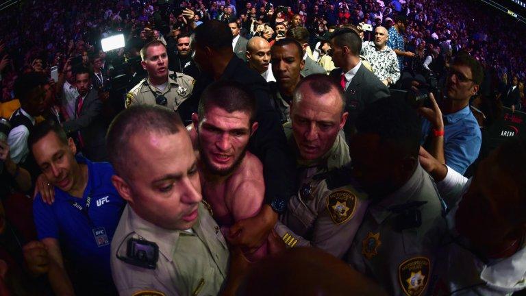 На UFC 229 Хабиб предизвика масово сбиване край октагона между неговите хора и тези на Конър.