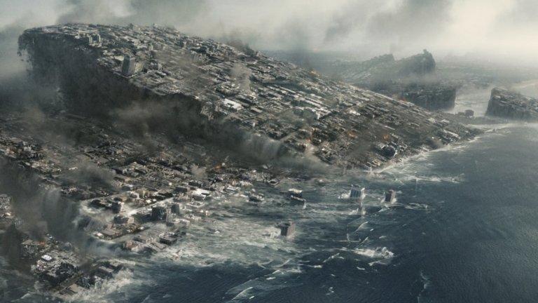 """2012 (2012) - Ултимативният филм за края на света и най-старателният опит на режисьора Роланд Емерих (макар и не най-добрия) да покаже на екран апокалипсиса. А той определено има фетиш към това. Тук се възползва от цялата истерия около края на календара на маите и """"предречения"""" апокалипсис, който трябваше да настъпи с него, но взе, че се размина. Но не и на голям екран, където вълни цунами и свръхмощни земетресения разрушават редица градове. Поуките от филма са две: при апокалипсис ще оцелеят богатите; визуалните ефекти не могат да заместят приличен сценарий."""