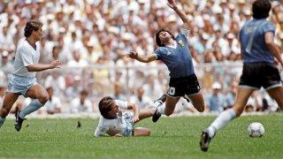 Диего Марадона изигра един от най-добрите мачове в кариерата си срещу Англия през 1986-а.