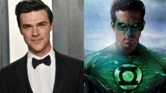 Актьорът от American Horror Story влиза в кожата на само един от Зелените фенери, които ще видим. (на снимка: Уитрок и Райън Рейнолдс във филма Green Lantern от 2011 г.)