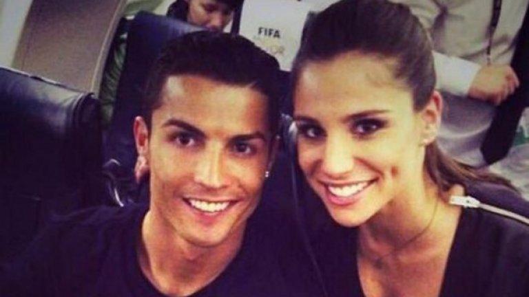 """Тази снимка с Роналдо на връщане от награждаването му със """"Златната топка"""" миналата година породи много спекулации"""