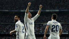 Роналдо вкара общо пет гола на Байерн в двата мача, за да класира Реал напред