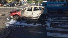 Взривеният автомобил, в който загина Павел Шеремет