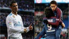 """Въпреки че наскоро спечели петата си """"Златна топка"""", Кристиано Роналдо няма място в Идеалните 11 на Реал Мадрид и Пари Сен Жермен..."""