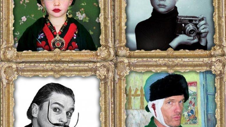 """Нийл Патрик Харис   Звездата от """"Как се запознах с майка ви"""" също е сред знаменитостите, които се стараят за Хелоуин. Тук той е художникът Винсент Ван Гог. Съпругът му Дейвид Буртка е Салвадор Дали, а двете им деца са съответно Фрида Кало и Анди Уорхол."""