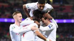 Англия не спря да вкарва и на Черна гора, вече има 33 гола за 7 мача в квалификациите
