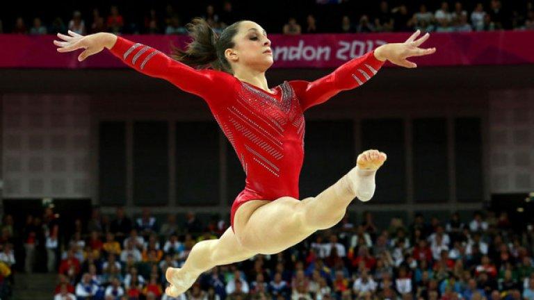 31. Лондон 2012: Твърде много американки  Американската гимнастичка Джордън Уайбър се класира четвърта в квалификациите на земя, но не бе допусната на финала. Защо? Заради абсурдното правило, че не може повече от две състезателки от една и съща държава да влязат във финала на земя. И след като втората и третата в квалификациите също бяха американки, Уайбуър не бе допусната, а не нейно място влезе гимнастичка с по-слаб резултат.