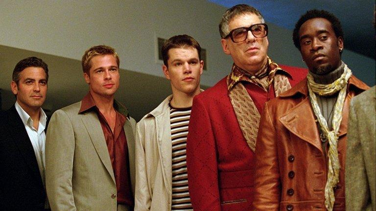 """""""Бандата на Оушън""""   Забавната поредица за Дани Оушън и компанията му събира на едно място някои от най-големите имена на Холивуд. Деймън е новакът в група от опитни престъпници, талантлив, но недоказал се.   Под режисурата на Содърбърг филмът е весел и приковаващ вниманието от началото до финалните надписи, а лошите момчета в него са по-смешни от всякога. Франчайзът се оказа толкова успешен, че доведе до две продължения, в които видяхме и Ал Пачино и Катрин Зита Джоунс."""