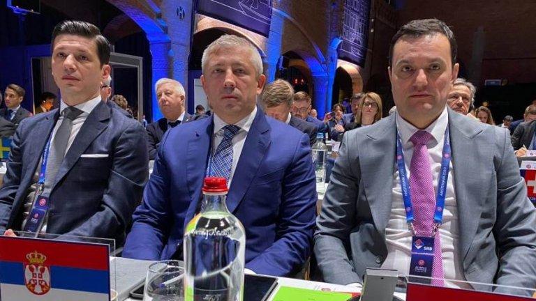 Марко Пантелич и Славиша Кокеза са присъствали на конгреса в Амстердам.