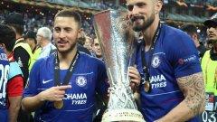 Големите герои за Челси Еден Азар и Оливие Жиру поведоха отбора към убедителния успех във финала