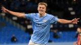 Лиъм Делап вкара страхотен гол на Борнемут снощи в първия си официален мач за Манчестър Сити