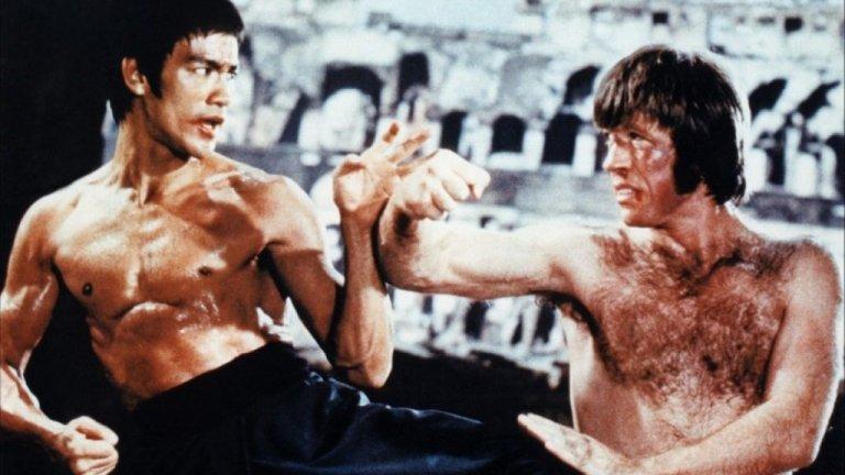 """Way of the Dragon /  """"Пътят на дракона""""  Защо е велик? Просто защото филм, който събира  в епичен сблъсък в Колизеума Брус Лий, Чък Норис и една сива котка, няма как да не бъде велик. Точка!"""
