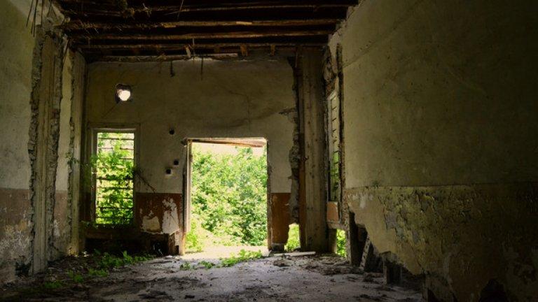Макар да е разположена на централно място, достъпът до къщата е силно затруднен от избуелите покрай нея храсти.