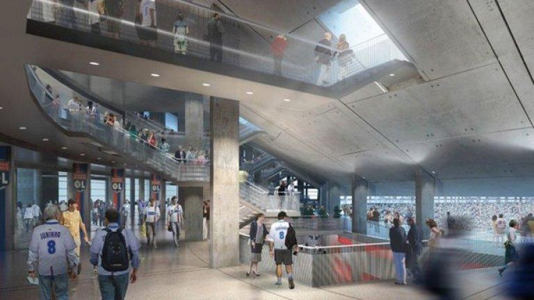 Стадионът ще разполага и с модерни прилежащи сгради като офиси, хотели, център за релаксация, тренировъчни игрища по последна мода, както и бизнес център и много магазини