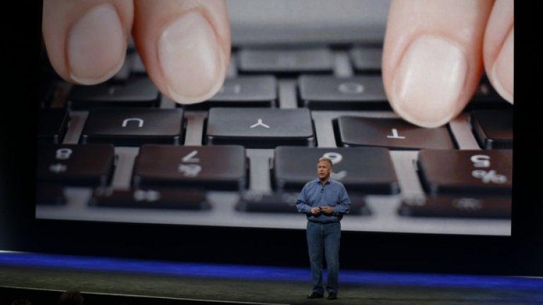 Един от елементите, на които Apple обърна внимание, е новата клавиатура - тя разполага с всички бутони, но заема много по-малко място