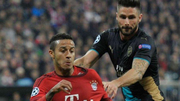 Тиаго, Байерн Мюнхен Не остави никакви шансове на съперниците от Арсенал.