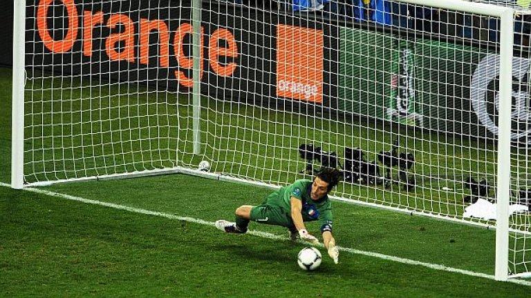 Резерви: Джанлуиджи Буфон – 3 (2003, 04, 06), Ювентус и Италия Играчът с най-много мачове с националната фланелка на Италия бе номиниран седем пъти, като в три от тях успя и да влезе в идеалните 11. Последният път, в който бе сред най-добрите, бе през 2006-а – след световната титла на Италия.