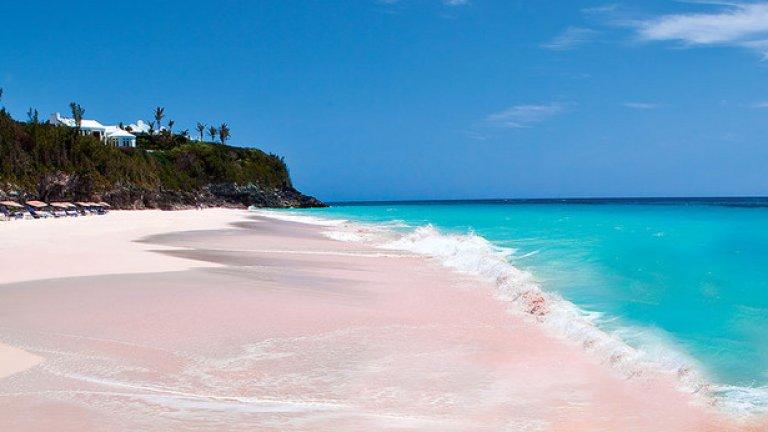 Розовият плаж на Бахамите