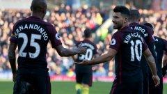 Агуеро донесе ценния успех с двата си гола във вратата на Пол Робинсън
