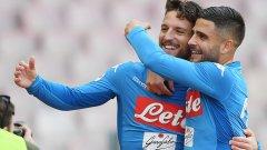Мертенс за пореден път беше на висота, а Инсиние му асистира за последния гол в мача