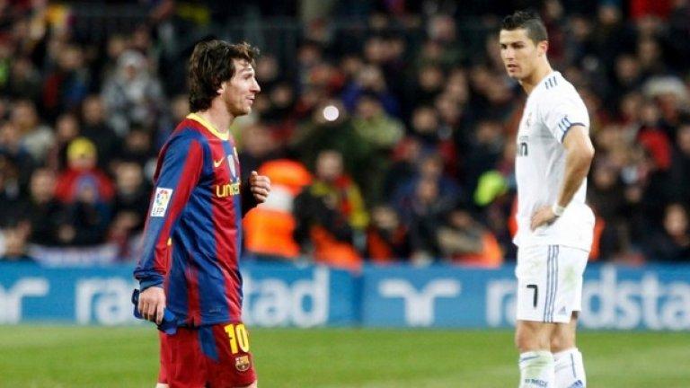 Голове на клубно ниво (2010-2019): Меси: 522 Роналдо: 478  Лео води с 44 гола, но да бъдем честни, показателите и на двамата са абсолютно нереални. Меси бележи по 52 гола средно на година, а Роналдо - малко под 48. Най-силната година на аржентинеца беше 2012-а с абсурдните 79 гола за Барселона. Следващата година беше най-силната за Роналдо с 59 попадения за Реал Мадрид.