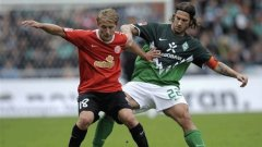 Вердер (Бремен) записа втора победа с четири гола в Бундеслигата