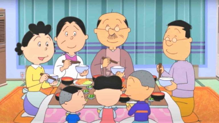 Sazae-san  Вероятно не сте го чували, нито пък сте го гледали, но Sazae-san представлява цяла епоха в японската телевизия. А и държи рекорда на Гинес за най-продължителната анимация с първи епизод през 1974 г. Знаем, че си мислехте, че е The Simpsons, но не е. Sazae-san разказва историята на г-жа Сазае и нейното семейство в контекста на следвоенна Япония. Макар и да е насочен към детската аудитория, сериалът всъщност често разглежда сериозни социални въпроси, свързани с феминизма в японското общество.