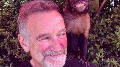 Робин Уилямс  Легендарният комик почина на 11 август 2014 г. Намерен бе мъртъв в жилището си при предполагаемо самоубийство. Най-вероятната причина за смъртта е задушаване. Снимката е направена няколко дни по-рано и публикувана от дъщеря му в Туитър.