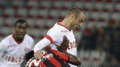Бербатов създаде две положения за Монако срещу Ница