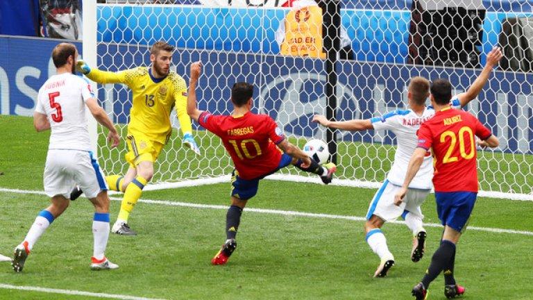 Спомняте ли си, че Испания допусна само един гол на Евро 2012? Колко ще допусне сега?