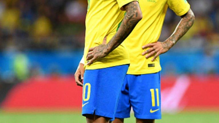 Неймар и Коутиньо се стараха, но не успяха да спасят Бразилия от неуспешния старт