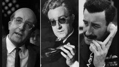 """Трима от главните герои в """"Д-р Стрейнджлав"""" - американският президент, британски офицер от ВВС и самият Стрейнджлав (побъркан ядрен стратег и бивш нацист) - са играни от Питър Селърс"""