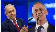 Изравнени са резултатите на премиера Нетаняху и основния му конкурент Бени Ганц
