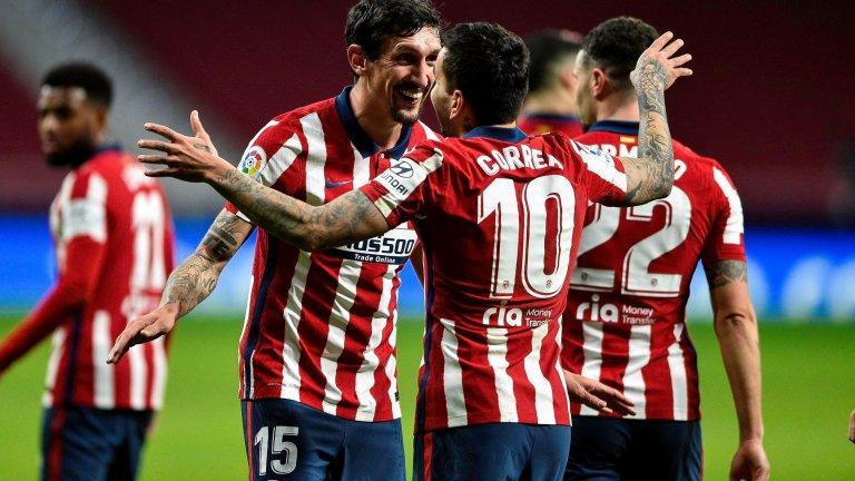 Страхотен Атлетико записа седма поредна победа в Ла Лига