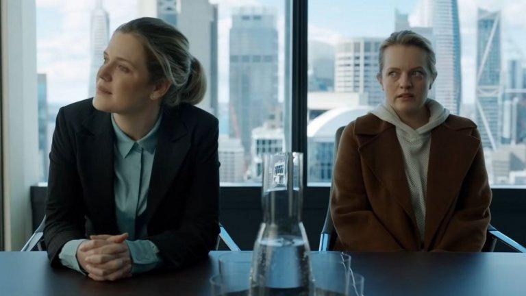 """В главната роля е Елизабет Мос (""""Историята на прислужницата""""). Тя играе жена в проблемна връзка, чийто тормозещ я приятел - богат учен - уж се самоубива."""