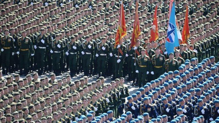 В Москва дефилираха всички подразделения на руската армия