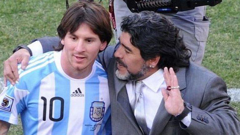 В ранните години от кариерата си Меси не беше чак толкова добър при изстрелите от фаул. А времето с Марадона в националния отбор явно му е помогнало
