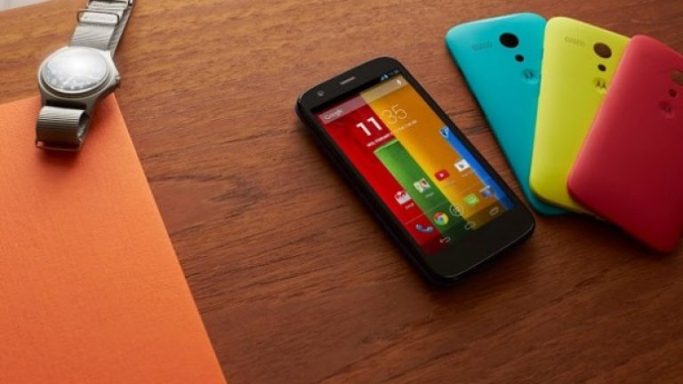 Motorola Moto G  Смартфонът с най-добра функционалност за парите си в момента е Motorola Moto G. Той съдържа всичко, което е важно за един добър смартфон: отличен дисплей, висока производителност и скорост, лесен софтуер и атрактивен дизайн.   Но ако желаете да използвате телефона си като портативен модем за компютъра, или за стрийминг на видео, вероятно са ви нужни LTE скорости.  В такъв случай, вижте останалите ни предложения (галерия).