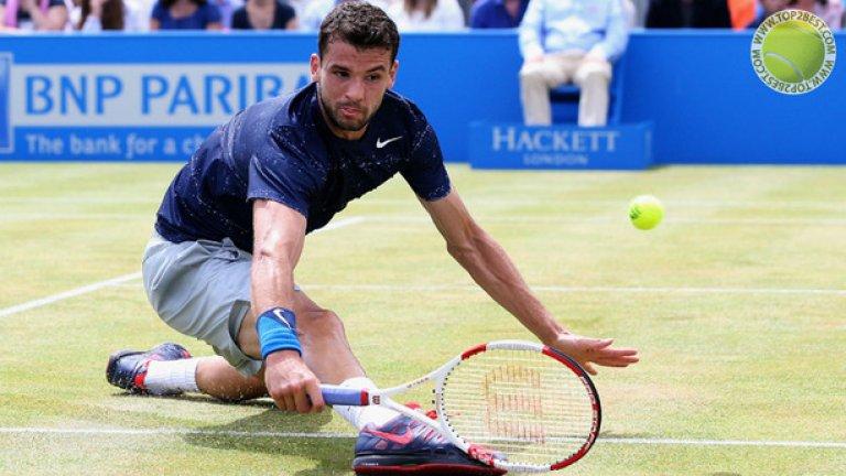 Григор Димитров записа страхотна година, краят на която го завари на 11-то място в ранглистата.  През месец юни Димитров спечели първата си титла на трева на престижния турнир в Куинс, предхождащ легендарния Уимбълдън.   На най-престижния тенис турнир Григор достигна до полуфинал