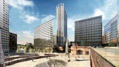 Резиденцията се намира в сърцето на Манчестър (сградата в ляво)