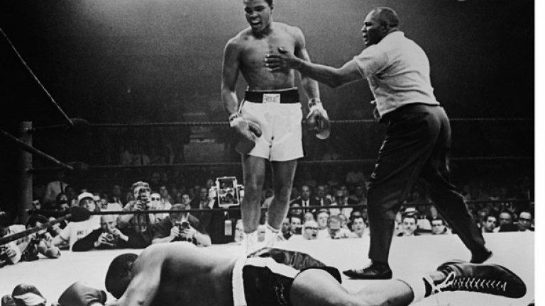 Мачът започва в 22,40 ч местно време. В 22,43 Али е запазил световната си титла.