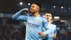 Габриел Жезус отбеляза и двата гола за победата на Манчестър Сити с 2:1 над Евертън