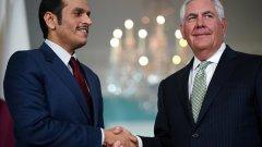 Тилърсън и колегата му Шейх Мохамед ал-Тани имат перфектни отношения