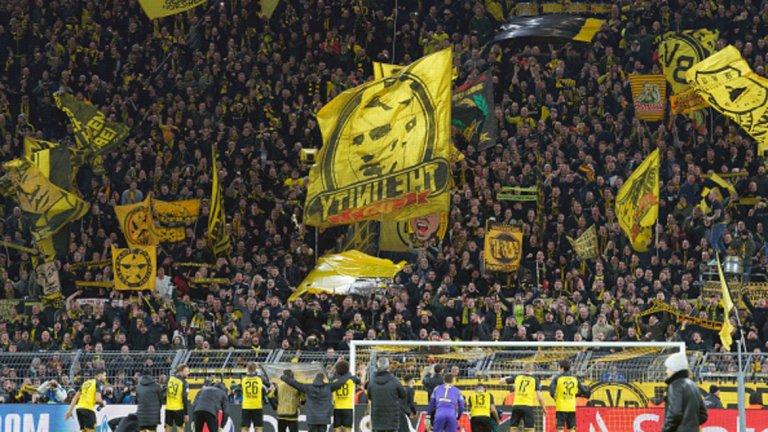 В Дортмунд феновете също се бяха постарали.