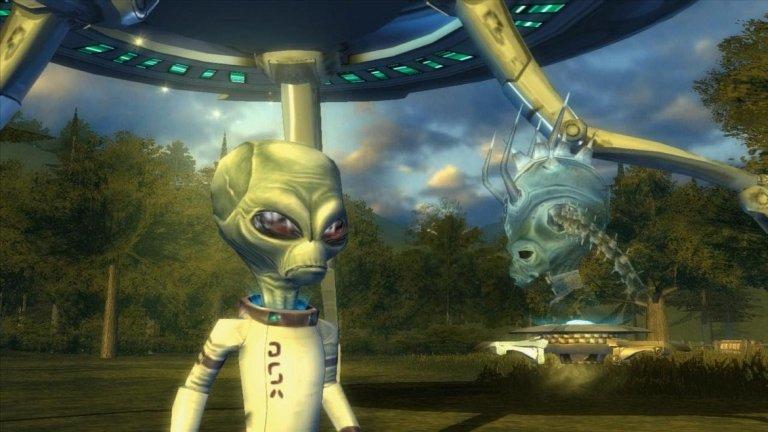Destroy All Humans  В поредицата Destroy All Humans играчите поемат контрола над Крипто: извънземно, което идва на Земята, за да вземе ДНК от хората и да осигури оцеляването на собствената си раса. Без изненада, и като се има предвид заглавието на играта, събирането на ДНК едва ли е безобиден процес и играчът е снабден с ексцентричен арсенал от оръжия, за да внесе хаос на Земята. Те ви позволяват да горите, да пулверизирате и дори да взимате проби от бедните земляни, които просто се опитват да живеят живота си. Също сте в състояние да нанесете имуществени щети в библейски мащаб, и въпреки че тонът на играта е хумористичен и леко сатиричен, няма съмнение колко крайно ужасяващи са действията ви в нея.