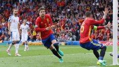 Жерар Пике спаси Испания от разочарование на старта
