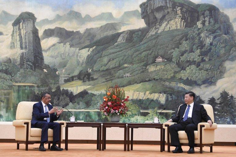 Тедрос Гебрейесус на среща с президента Си Дзинпин